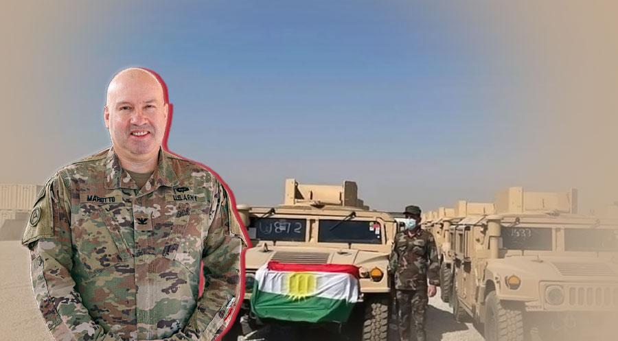 المتحدث باسم التحالف الدولي في الحرب على داعش يتعهّد بمواصلة دعمهم وتعاونهم لبيشمركة كوردستان
