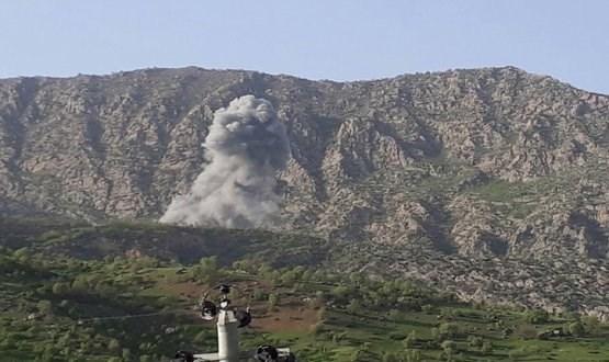 بالهفرێن جهنگی PKK ل سینۆرێ شێلادزێ بۆردۆمان دكه