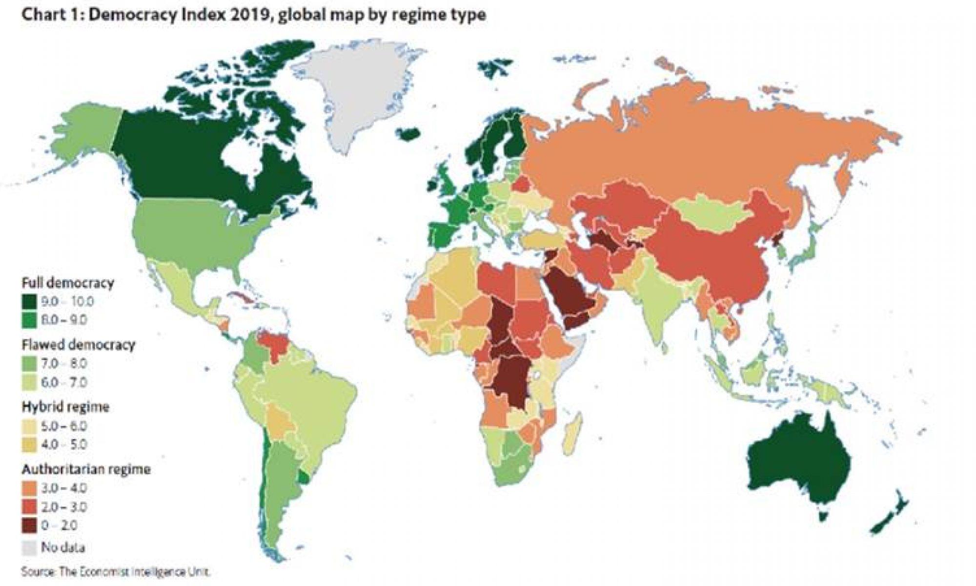 د راپۆرا دەمۆکراسیێ یا سالا ٢٠١٩ان ترکیێ ل ریزا ١١٠ان دە جیهگرت